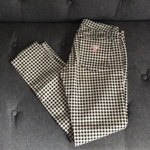Guess Black and White Gingham Jeans Size 26
